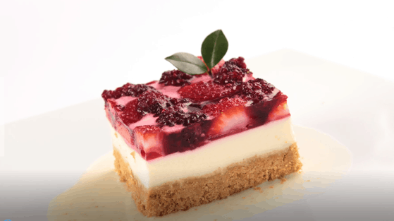 Postre cheese cake de frutos rojos